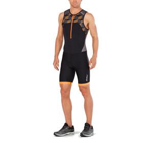 2XU Active Trisuit Men black/retro flame orange